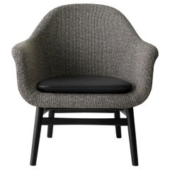 Harbour Lounge Chair, Black Oak Base with Savanna 152 Seat and Shade Cushion