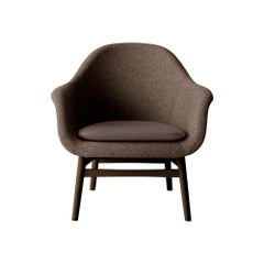 Harbour Lounge Chair, Dark Stained Oak with Savanna 262 Seat and Nuance Cushion