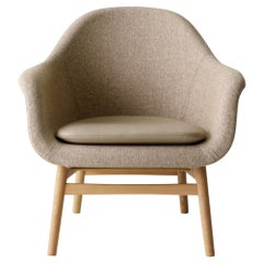 Harbour Lounge Chair, Natural Oak Base with Savanna 222 Seat & Nuance Cushion