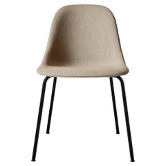 Harbour Side Chair, Base in Black Steel, Sandy Brown Shell