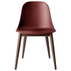 Harbour Side Chair, Base in Dark Oak, Burning Red Shell