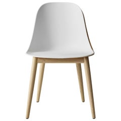 Harbour Side Chair, Base in Natural Oak, Light Grey Shell