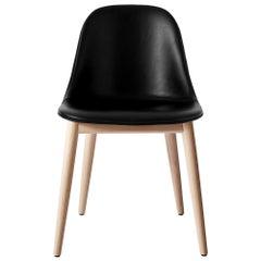 """Harbour Side Chair, Base in Natural Oak, Nevotex """"Dakar"""" #0842 'Black'"""