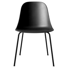 Harbour Side Chair, Black Steel Base with Black Shell
