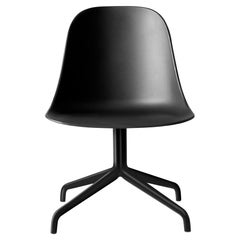 Harbour Side Chair, Black Steel Swivel Base, Black Shell