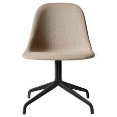 "Harbour Side Chair, Black Steel Swivel Base,  Kvadrat ""Remix 2"" #233"