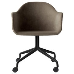 Harbour Side Chair, Black Steel Swivel Base with Caster, City Velvet CA7832/078