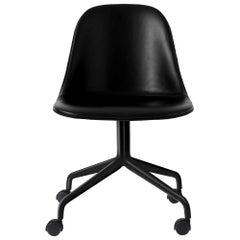 """Harbour Side Chair, Black Steel Swivel Base with Caster, Nevotex """"Dakar"""" #0842"""
