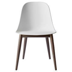Harbour Side Chair, Dark Oak Base with Light Grey Shell