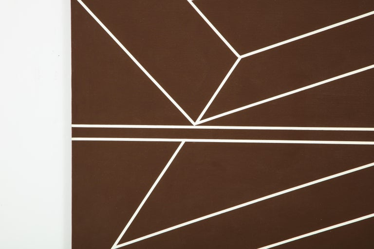 The brilliant geometry of this work is mirrored in the artist's fine metal sculpture of the same period. Hatchett's work was chosen for the cover of the catalog of the 1966 Whitney Museum of American Art Annual Exhibition of Sculpture and Prints.