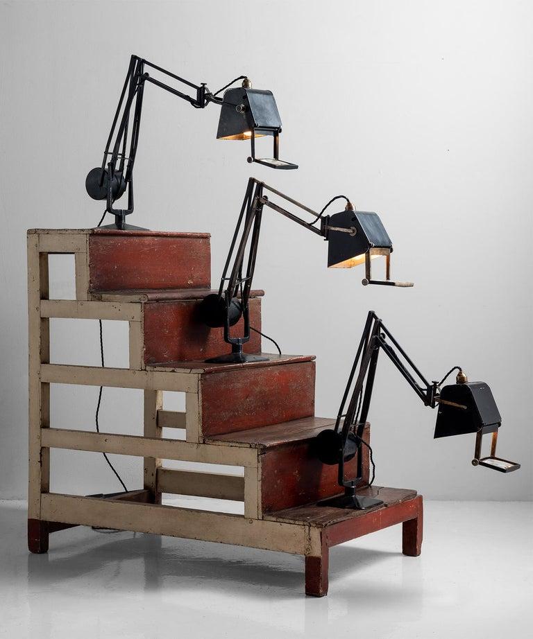 20th Century Hardrill & Horstman Work Lamp For Sale
