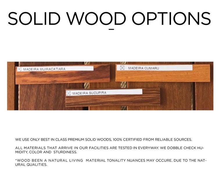 Brazilian Hardwood and Metal Outdoor Center Table, Minimalist Design For Sale