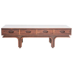 Hardwood Coffee Table by Gianfranco Frattini for Bernini