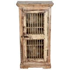 Hardwood Jali Door Cabinet, 20th Century