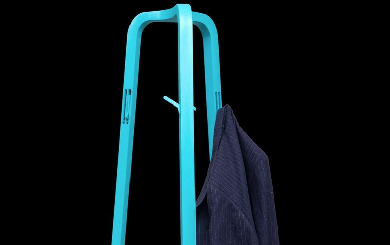 Metal Hardwood Lacquered Coat Rack by Obiect, Mexican Contemporary Design For Sale