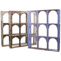 Hardwood Painted Arched Display Units, 20th Century