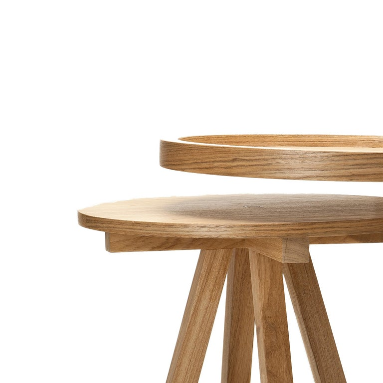 Minimalist Hardwood Side Table, Contemporary Brazilian Design For Sale