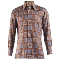 Hardy Amies Vintage Mens Long Sleeve Shirt, 1970s