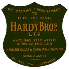 Hardy Bros Ltd, Angling Specialists Shield Enamel Sign Wall Plaque