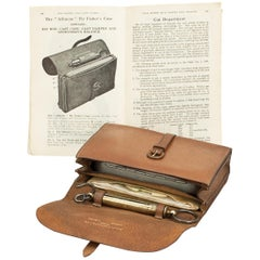 Hardy's Fishing Tackle Wallet in Leather with Fly Box