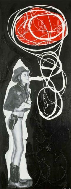 """Bubble Gum,"" Mixed Media on Wood - Graffiti Collage Art"