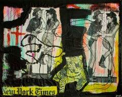 """New York Crimes,"" Mixed Media - Graffiti Art Collage"