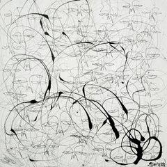 """One of a Kind: Black on White,"" Mixed Media - Graffiti Art"