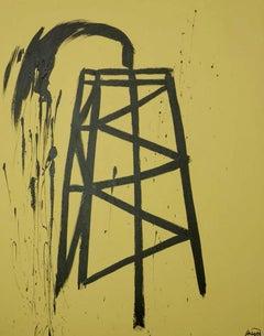 """Saudi,"" Acrylic on Canvas - Graffiti Art"