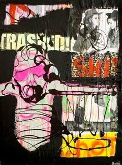 """Trashed,"" Mixed Media - Graffiti Art Collage"