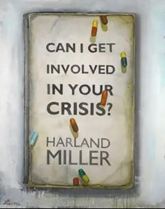 Can I Get Involved in Your Crisis? harland miller acrylic oil on screen print