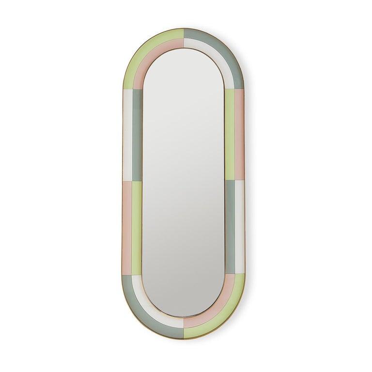 American Harlequin Capsule Mirror For Sale