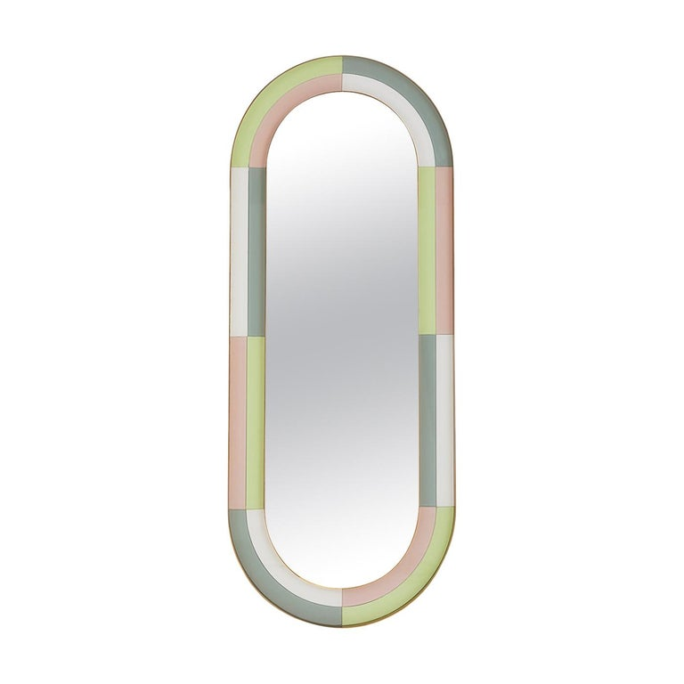 Harlequin Capsule Mirror For Sale