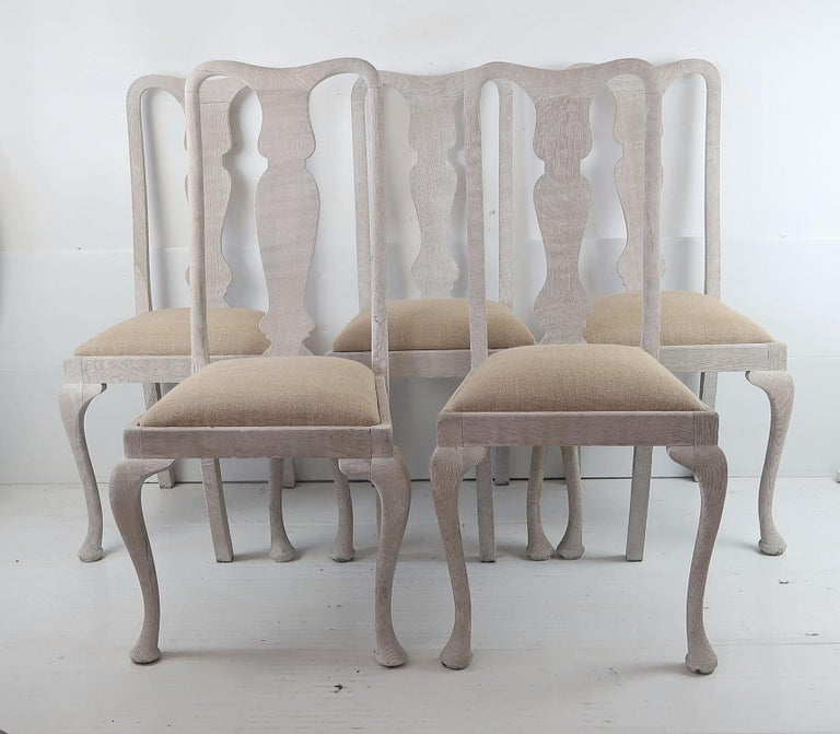 English Harlequin Set of 10 Antique Gustavian Style Urn Back Dining Chairs For Sale