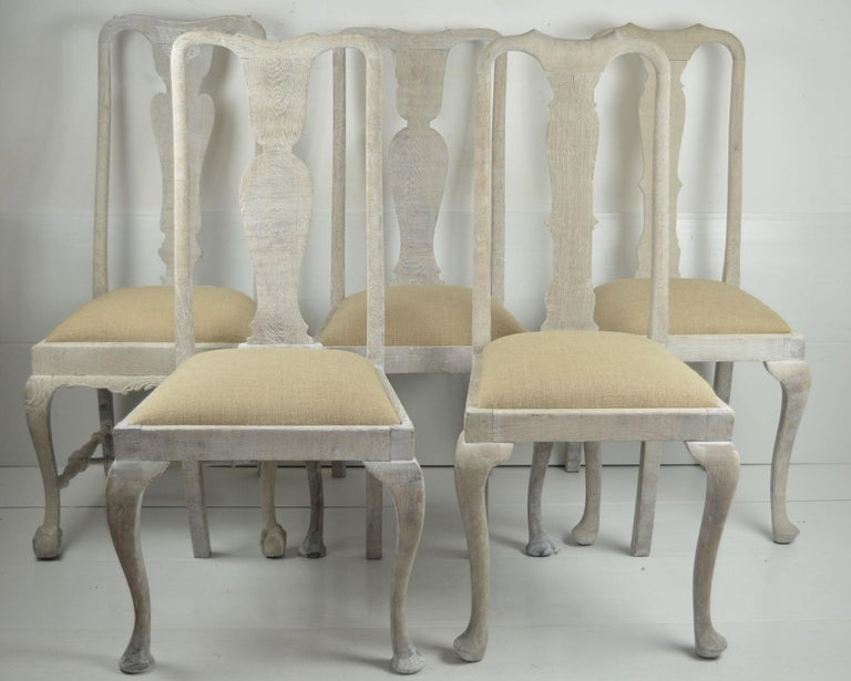 Harlequin Set of 10 Antique Gustavian Style Urn Back Dining Chairs For Sale 1