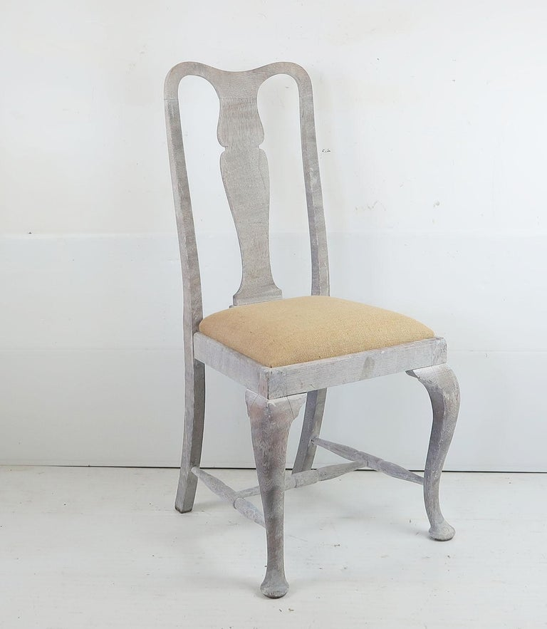 Limed Harlequin Set of 10 Antique Gustavian Style Urn Back Dining Chairs For Sale