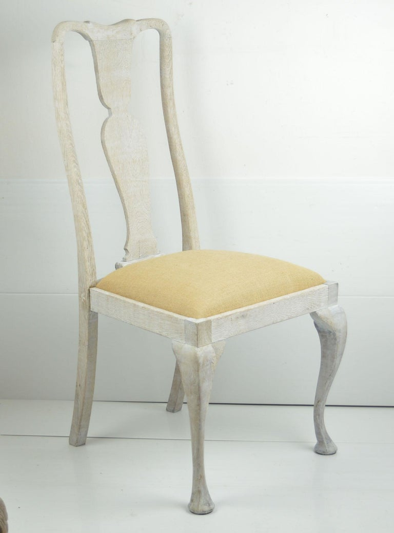Harlequin Set of 10 Antique Gustavian Style Urn Back Dining Chairs For Sale 3