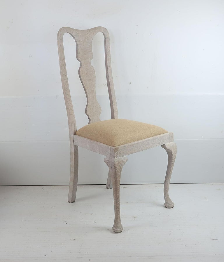 20th Century Harlequin Set of 10 Antique Gustavian Style Urn Back Dining Chairs For Sale