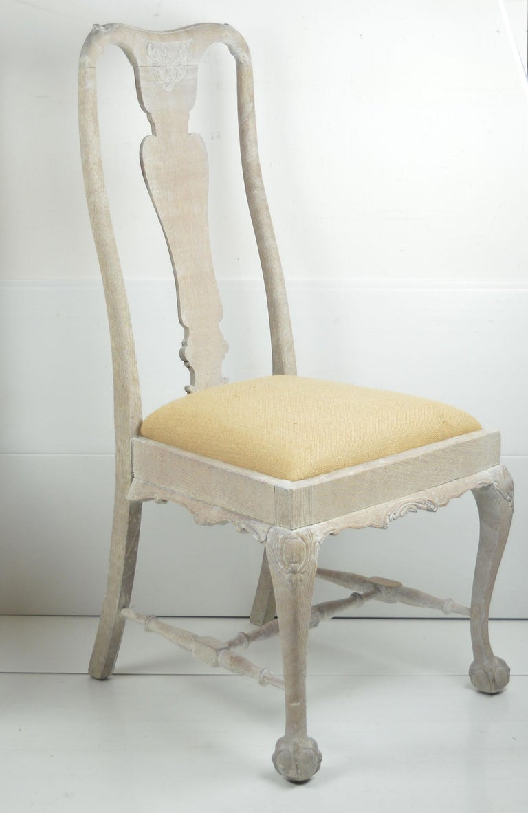 Harlequin Set of 10 Antique Gustavian Style Urn Back Dining Chairs For Sale 5