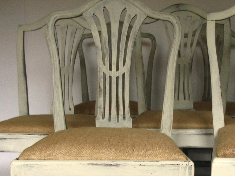 Harlequin Set of 8 Antique Chairs, Early 19th Century, England, Decorative 1