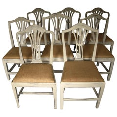 Harlequin Set of 8 Antique Chairs, Early 19th Century, England, Decorative