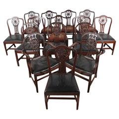 'Harlequin' Set of Georgian Mahogany Dining Chairs