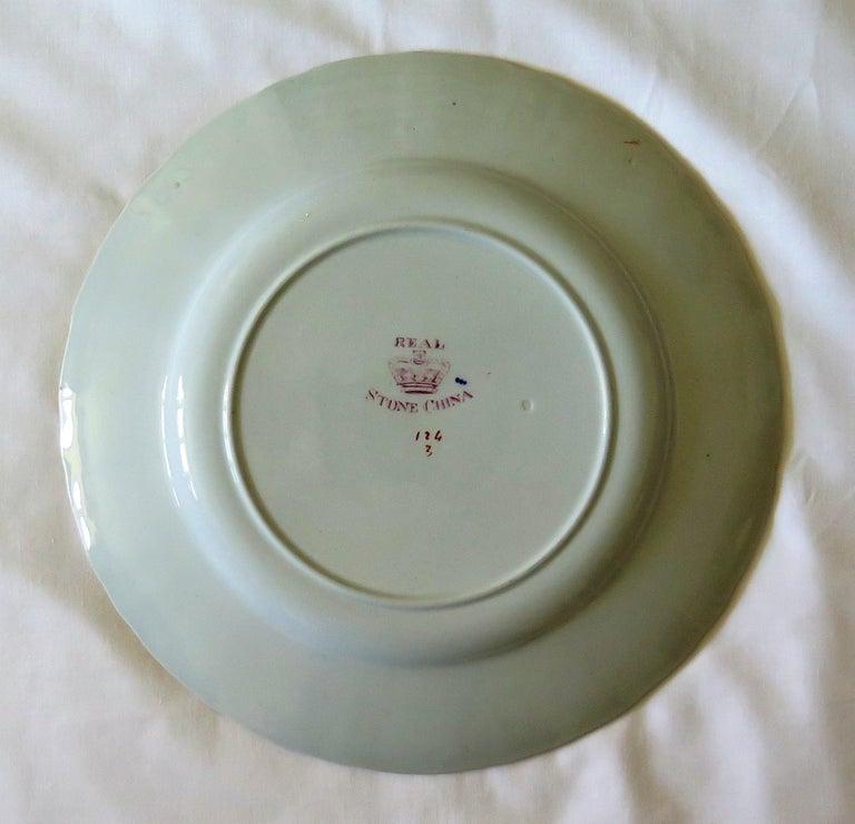 19th C. Harlequin Set of SIX Mason's Ironstone Large Dinner Plates, Circa 1840 10