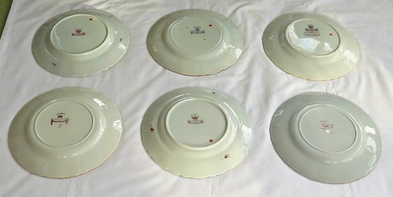 19th C. Harlequin Set of SIX Mason's Ironstone Large Dinner Plates, Circa 1840 12