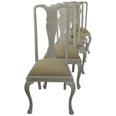 Harlequin Set of Ten (10) Antique Gustavian Style Urn Back Dining Chairs