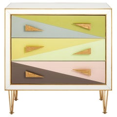 Harlequin Three-Drawer Chest in Multi