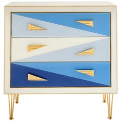 Harlequin Three-Drawer Chest in Multi-Blue