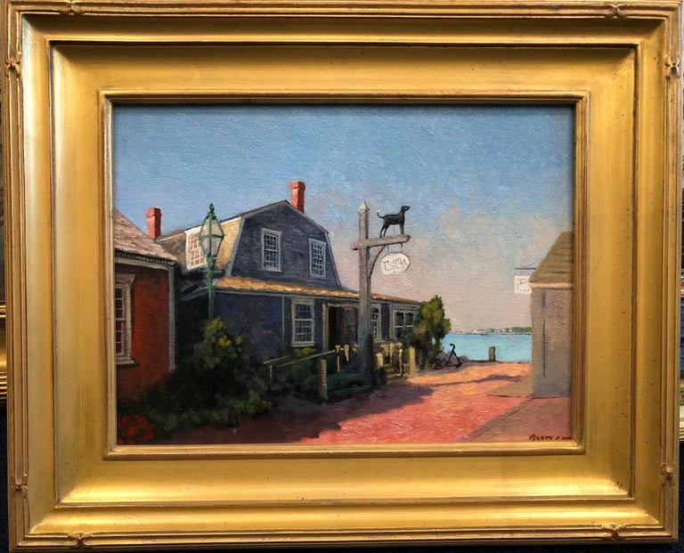 The Black Dog, Martha's Vineyard, Massachusetts - Painting by Harley Bartlett