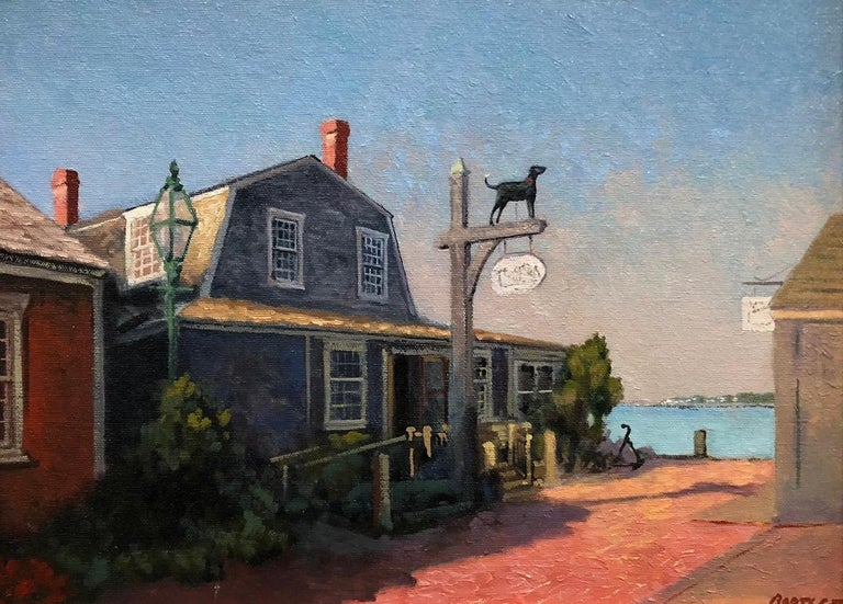 Harley Bartlett Landscape Painting - The Black Dog, Martha's Vineyard, Massachusetts
