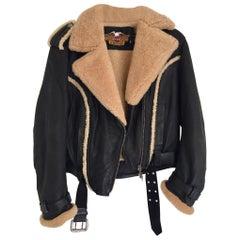Harley Davidson Bomber Sheepskin Motorcycle Jacket