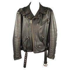 HARLEY DAVIDSON Size XXL Black Leather Motorcycle Jacket